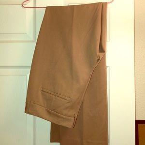 Tan Express Editor Suit Pants